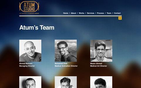 Screenshot of Team Page atumstudio.com - Atum's Team | Atum Studio - captured Oct. 29, 2014
