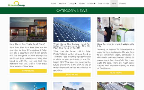 Screenshot of Press Page thegreenergroup.com - News Archives | The Greener Group - captured Sept. 21, 2018