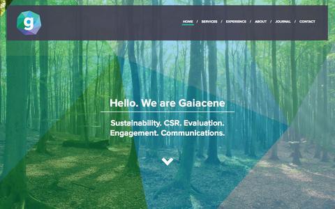 Screenshot of Home Page gaiacene.com - Gaiacene - captured Sept. 29, 2014