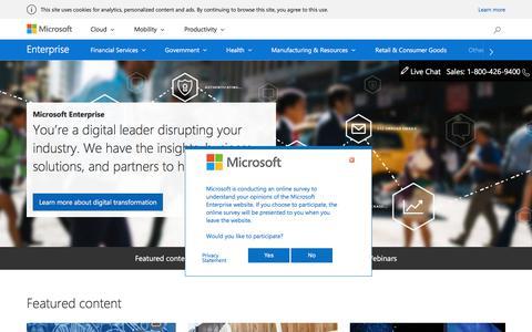 Microsoft Enterprise: Disruptive innovation in technology solutions