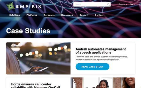 Screenshot of Case Studies Page empirix.com - Case Studies – Empirix - captured Aug. 6, 2019