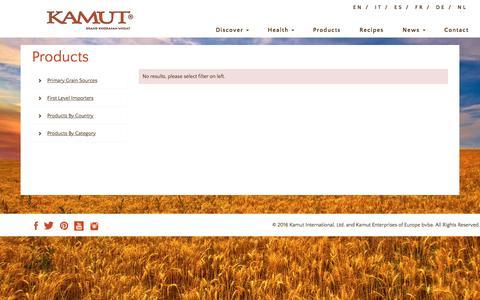 Screenshot of Products Page kamut.com - Product | Kamut Brand® Khorasan Wheat - captured Sept. 9, 2016