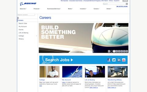 Screenshot of Jobs Page boeing.com - Boeing: Careers - captured Sept. 18, 2014