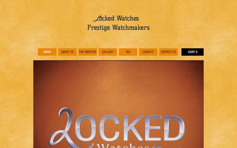 Screenshot of Home Page lockedwatches.com - Locked Watches Prestige Watchmakers - captured Oct. 2, 2014