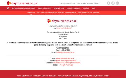 Screenshot of About Page daynurseries.co.uk - Contact daynurseries.co.uk - captured Sept. 23, 2015
