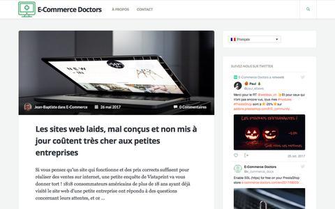 Screenshot of Home Page Blog e-commerce-doctors.com - E-Commerce Doctors - captured Oct. 30, 2017
