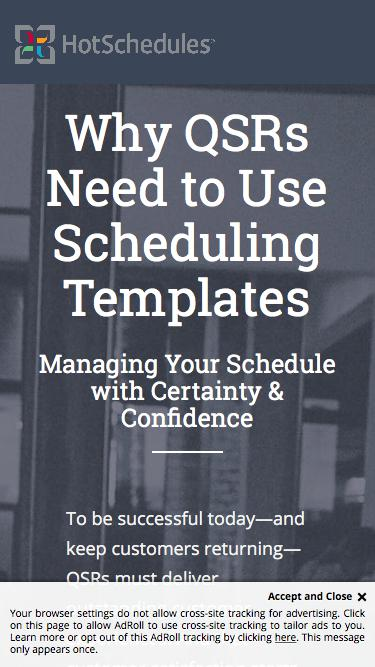 Ebook - Why QSRs Need Scheduling Template