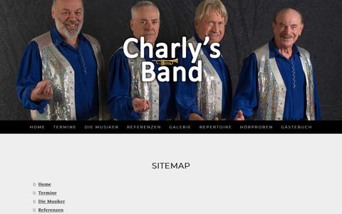 Screenshot of Site Map Page jimdo.com - Sitemap - charlys-bands Webseite! - captured June 13, 2018