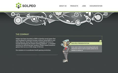 Screenshot of About Page solpeo.com - Solpeo - isometric HTML5 engine and scalable backend - captured Sept. 19, 2014