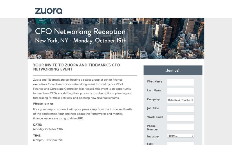 CFO Networking Event | Zuora