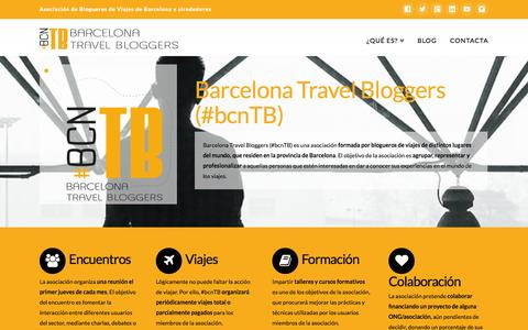 Screenshot of Home Page bcntb.com - Barcelona Travel Bloggers (#bcnTB) | Asociación de blogueros de viajes de Barcelona - captured Sept. 19, 2014