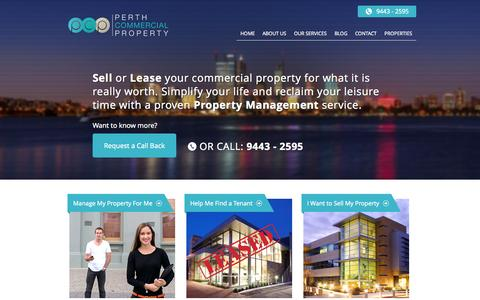 Screenshot of Home Page perthcommercialproperty.com.au - Perth Commercial Property — My WordPress Blog - captured Oct. 2, 2014