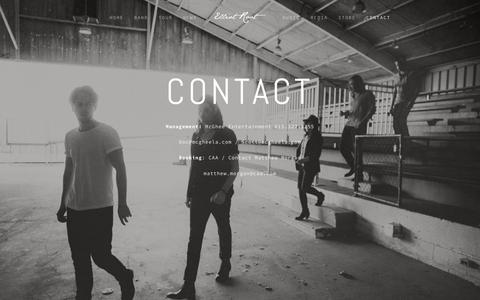 Screenshot of Contact Page elliotroot.com - Contact — Elliot Root - captured April 7, 2016
