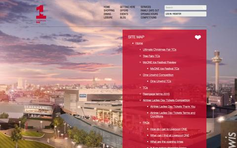Screenshot of Site Map Page liverpool-one.com - Site Map | Liverpool ONE - captured Dec. 12, 2015