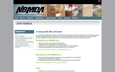 Screenshot of Signup Page nbmda.org - NBMDA : Benefits of Membership - captured Oct. 6, 2014