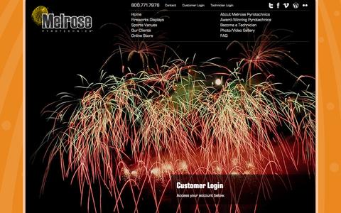 Screenshot of Login Page melrosepyro.com - Users - captured Oct. 27, 2014