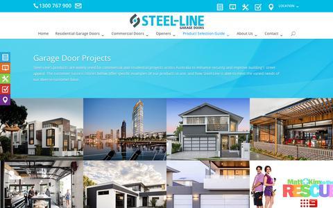 Screenshot of Case Studies Page steel-line.com.au - Garage Door Projects | Steel-Line - captured Oct. 20, 2018