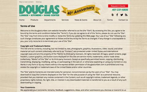 Screenshot of Terms Page douglaslumber.com - Terms of Use - captured Nov. 24, 2016