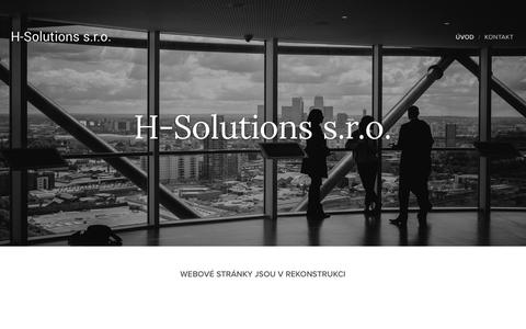 Screenshot of Home Page h-solutions.eu - H-solutions - captured Aug. 24, 2017
