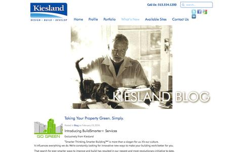 Screenshot of Blog kiesland.com - Blog Archives - Smarter Thinking | Smarter Building - captured Feb. 12, 2016