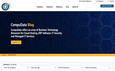 Screenshot of Blog compudata.com - CompuData Philadelphia Cloud Hosting & Business Technology Provider - captured Nov. 1, 2019