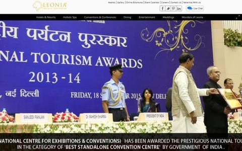 Screenshot of Home Page leonia.in - Leonia Holistic Destination - Hotels & Resorts, Integrated Medicine in Hyderabad - captured Nov. 1, 2015
