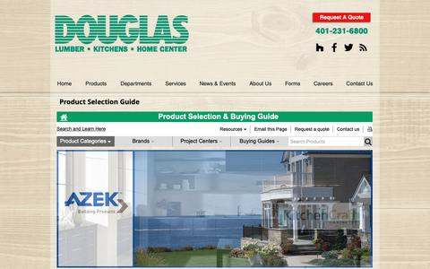 Screenshot of Products Page douglaslumber.com - Product Selection Guide   Douglas Lumber, Kitchens & Home Center   Smi - captured Jan. 31, 2019