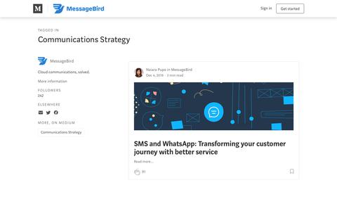 Screenshot of Blog messagebird.com - Communications Strategy – MessageBird - captured June 13, 2019