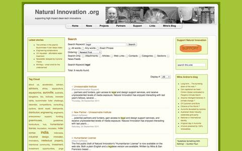 Screenshot of Terms Page naturalinnovation.org - Search - captured Oct. 27, 2014