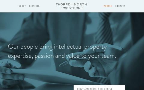 Screenshot of Team Page tnw.com - People / Thorpe North & Western - captured Feb. 29, 2016