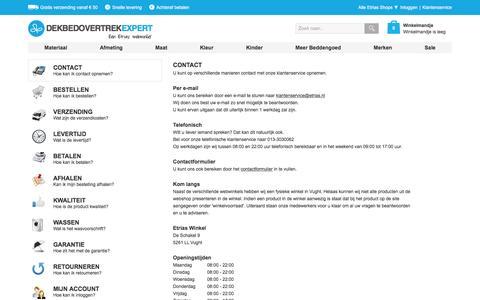 Screenshot of Privacy Page Contact Page dekbedovertrekexpert.nl - Veelgestelde Vragen | Dekbedovertrekexpert.nl - captured March 4, 2016