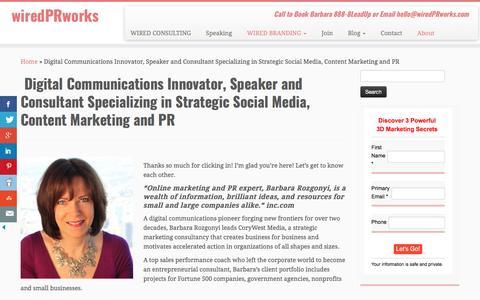 Social Media, Content Marketing and Digital PR Consultant