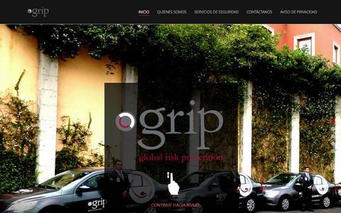 Screenshot of Home Page grip.mx - Inicio - Global Risk Prevention - GRIP - Empresa de Seguridad Privada - captured Sept. 18, 2015