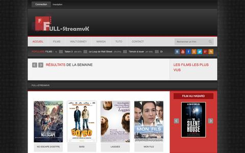 Screenshot of Home Page full-streamvk.com - Full StreamVK - Voir Film en Ligne Gratuitement ( Version Française ) » Streaming Complet - Full-streamvk - captured May 29, 2016
