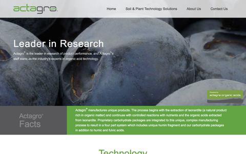 Screenshot of Home Page actagro.com - Homepage - Actagro - captured Dec. 23, 2015
