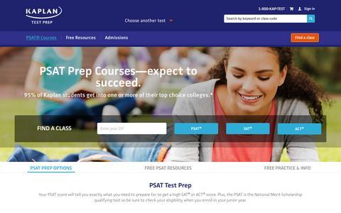 Kaplan PSAT Prep | Kaplan Test Prep