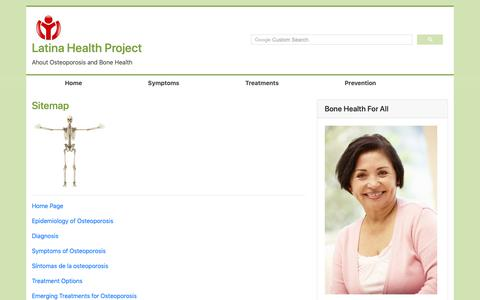 Screenshot of Site Map Page latinaproject.com - LatinaProject.com Website Sitemap - captured Nov. 10, 2018