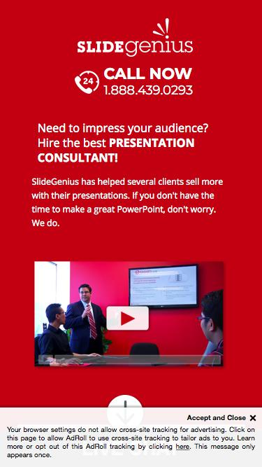 PowerPoint Presentation Consultants | Speak With One Today | SlideGenius PowerPoint Consulting