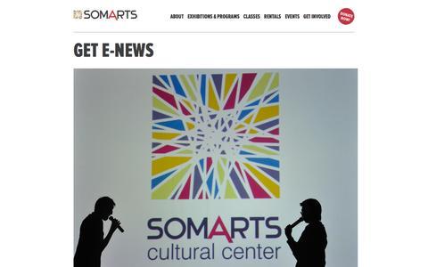 Screenshot of Signup Page somarts.org - Get E-News � SOMArts - captured Dec. 19, 2015