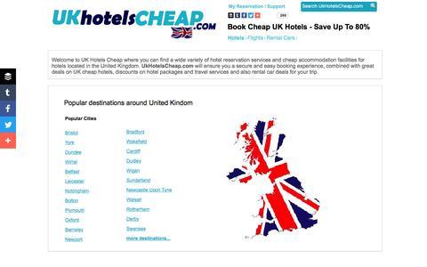 Screenshot of Home Page ukhotelscheap.com - Uk Hotels Cheap - Looking for a cheap UK hotel ? UK Hotels Cheap Offers Cheap Hotel Deals - captured June 29, 2016