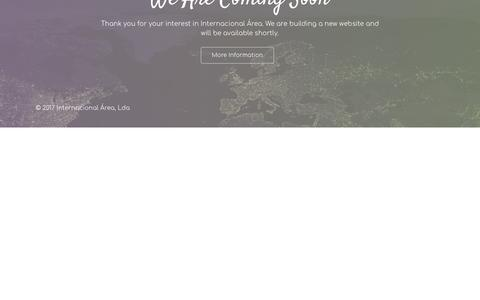 Screenshot of Home Page internacional-area.com - Grupo Internacional Área - captured Oct. 30, 2018