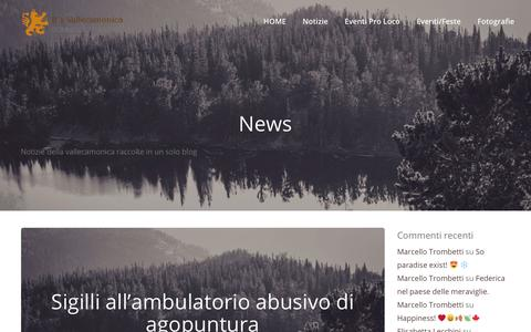 Screenshot of Press Page vallecamonica.lombardia.it - News Archivi » It's Vallecamonica - captured Oct. 28, 2018