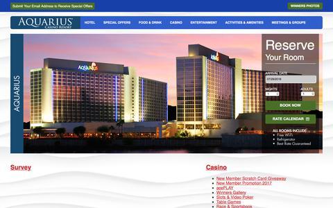 Screenshot of Site Map Page aquariuscasinoresort.com - The Aquarius Casino Resort - Fun in the Sun - Laughlin NV. - captured July 30, 2018