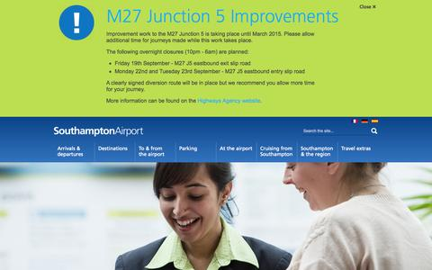 Screenshot of Contact Page southamptonairport.com - Contact Southampton Airport | Southampton Airport - captured Sept. 23, 2014