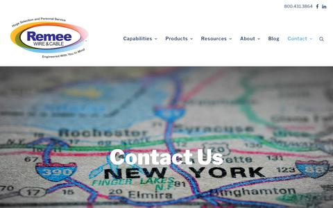 Screenshot of Contact Page remee.com - Contact Us - Remee - captured Nov. 15, 2018