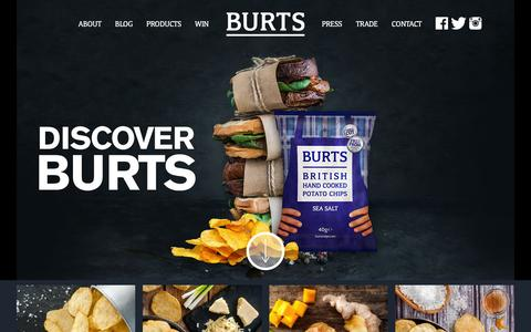 Screenshot of Products Page burtschips.com - Products Archives - Burts Chips - captured Feb. 8, 2016