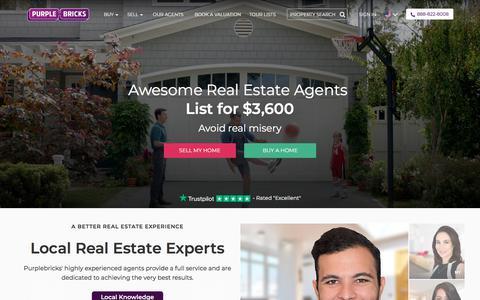 Screenshot of Home Page purplebricks.com - Purplebricks - Your local real estate agent - captured June 21, 2018