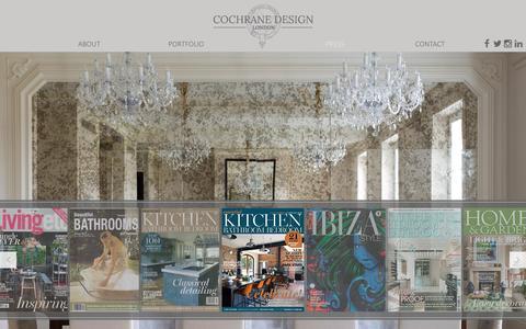 Screenshot of Press Page cochranedesign.com - Press - Cochrane Design - captured Dec. 10, 2015