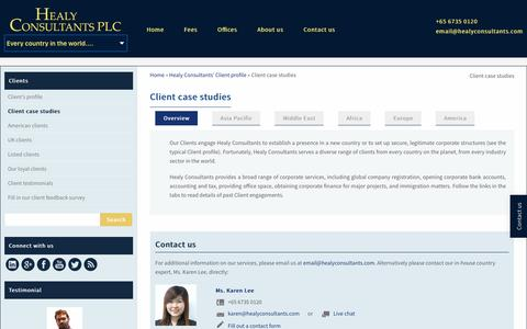 Screenshot of Case Studies Page healyconsultants.com - Client case studies - Healy Consultants - captured Nov. 6, 2016