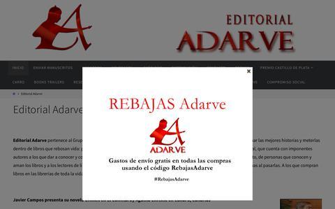 Screenshot of Home Page editorial-adarve.com - Editoriales España : editorial-adarve.com - captured Jan. 10, 2018